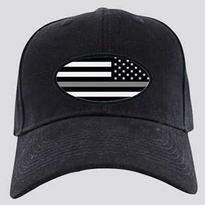 U.S. Flag: Black Flag & The Thin Grey Li Black Cap