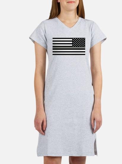 U.S. Flag: Black Flag & The Thi Women's Nightshirt