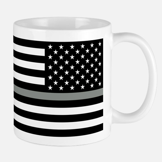 U.S. Flag: Black Flag & The Thin Grey L Mug