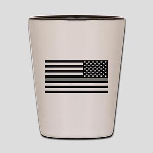 U.S. Flag: Black Flag & The Thin Grey L Shot Glass