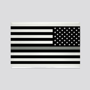 U.S. Flag: Black Flag & The Thin Rectangle Magnet