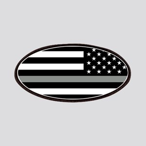 U.S. Flag: Black Flag & The Thin Grey Line ( Patch