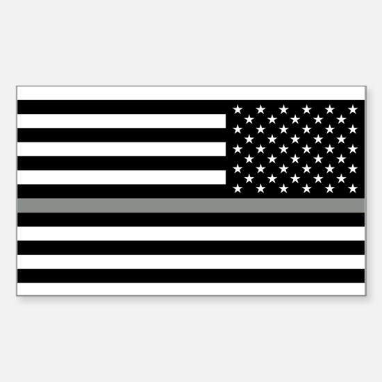 U.S. Flag: Black Flag & The Th Sticker (Rectangle)