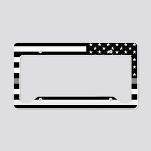 U.S. Flag: Black Flag & The T License Plate Holder