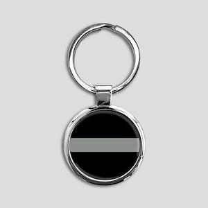 The Thin Grey Line Round Keychain