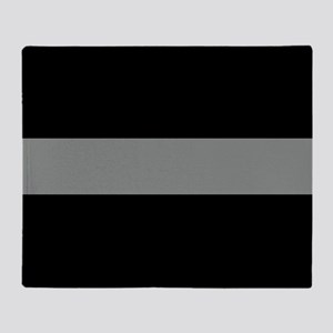 The Thin Grey Line Throw Blanket
