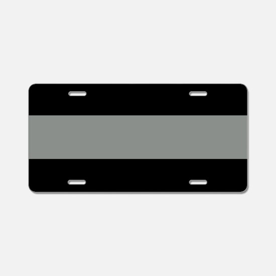 The Thin Grey Line Aluminum License Plate