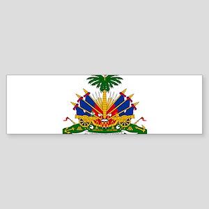 Coat of arms of Haiti - Emblème d'H Bumper Sticker