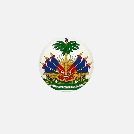 Coat of arms of Haiti - Emblème d'Haït Mini Button