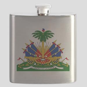 Coat of arms of Haiti - Emblème d'Haïti Flask