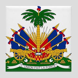 Coat of arms of Haiti - Emblème d'Haï Tile Coaster