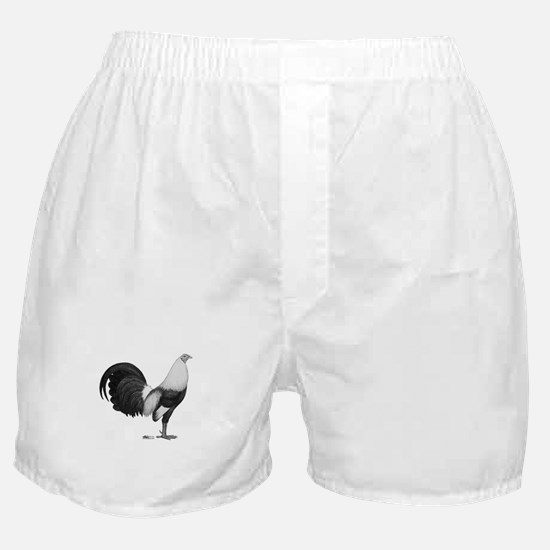 Gamecock Grey Duckwing Rooster Boxer Shorts