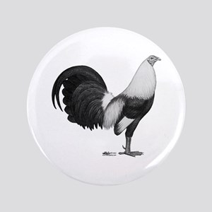 Gamecock Grey Duckwing Rooster Button