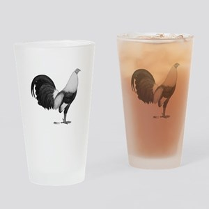 Gamecock Grey Duckwing Rooster Drinking Glass
