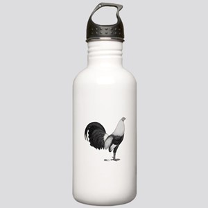 Gamecock Grey Duckwing Rooster Water Bottle
