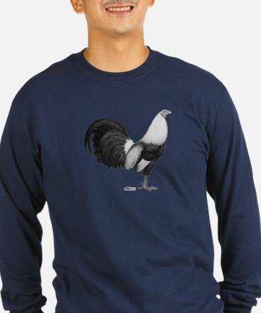 Gamecock Grey Duckwing Rooster Long Sleeve T-Shirt