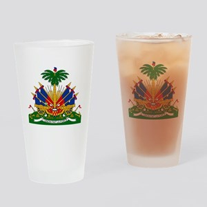 Coat of arms of Haiti - Emblème d'H Drinking Glass