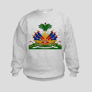 Coat of arms of Haiti - Emblème d' Kids Sweatshirt