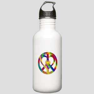 Peace Love Camping Stainless Water Bottle 1.0L