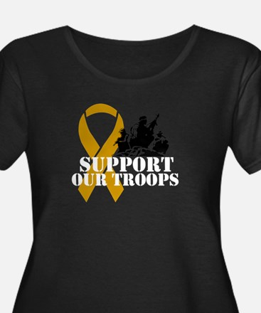 Support our troops Plus Size T-Shirt