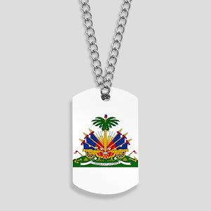 Coat of arms of Haiti - Emblème d'Haïti Dog Tags