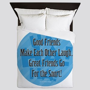 Laugh-Snort Queen Duvet