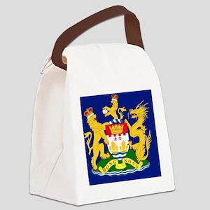 Hong Kong Autonomy Movement Flag Canvas Lunch Bag