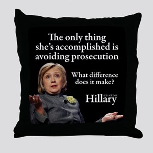 HILLARY ONLY THING Throw Pillow