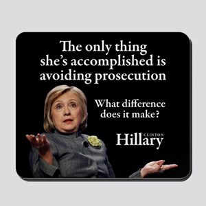 HILLARY ONLY THING Mousepad