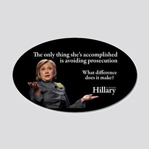 HILLARY ONLY THING 20x12 Oval Wall Decal