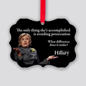 HILLARY ONLY THING Picture Ornament