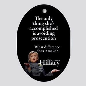 HILLARY ONLY THING Oval Ornament