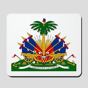 Coat of arms of Haiti - Emblème d'Haïti Mousepad