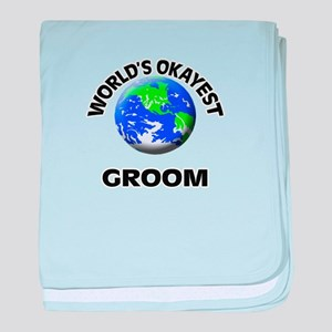 World's Okayest Groom baby blanket