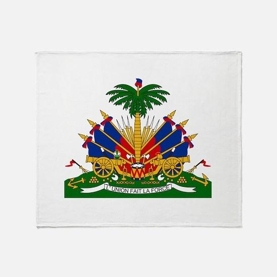 Coat of arms of Haiti - Emblème d'Ha Throw Blanket