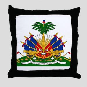 Coat of arms of Haiti - Emblème d'Haï Throw Pillow