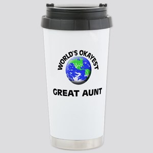 World's Okayest Great A Stainless Steel Travel Mug