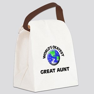 World's Okayest Great Aunt Canvas Lunch Bag