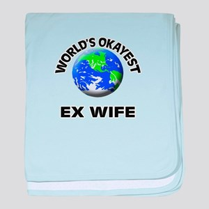 World's Okayest Ex-Wife baby blanket
