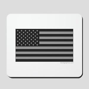 Gray Tactical American Flag Mousepad