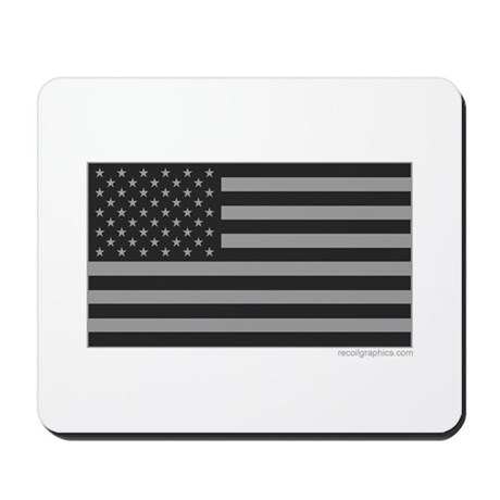 Gray Tactical American Flag Mousepad by recoilgraphics df2f2900e3a4