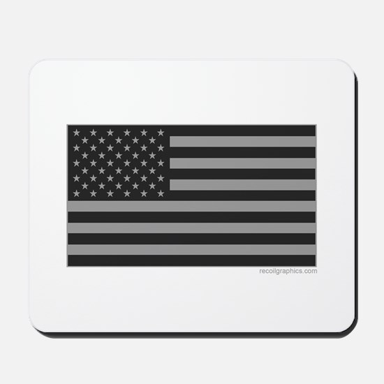 Gray Tactical American Flag Mousepad