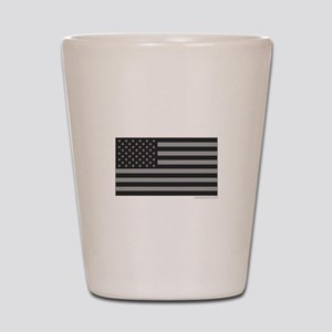 Gray Tactical American Flag Shot Glass