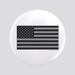 Gray Tactical American Flag Button