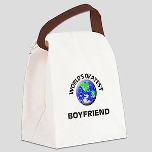 World's Okayest Boyfriend Canvas Lunch Bag