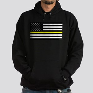 U.S. Flag: Black Flag & The Thin Yel Hoodie (dark)
