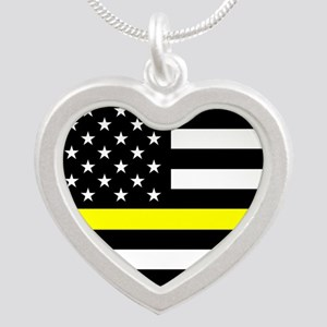 U.S. Flag: Black Flag & The Silver Heart Necklace