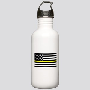 U.S. Flag: Black Flag Stainless Water Bottle 1.0L