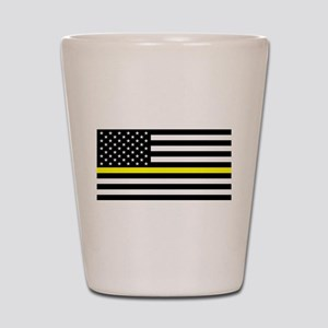 U.S. Flag: Black Flag & The Thin Yellow Shot Glass