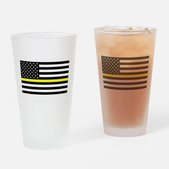 U.S. Flag: Black Flag & The Thin Ye Drinking Glass